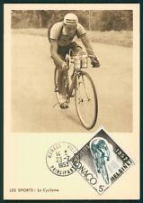 Mónaco Mk 1953 vueltas ciclistas ciclismo Cycling maximum mapa maximum card mc cm ci21