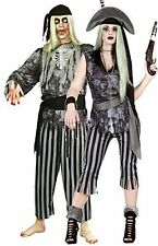 Couples Ladies AND Mens Grey Ghost Pirate Halloween Fancy Dress Costumes Outfits
