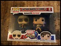 Pop Games / Funko Pop Captain Marvel Vs Chun-Li - 2 Pack - Brand New Boxed
