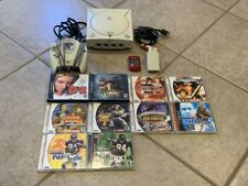 Sega Dreamcast System Lot One Controller + Memory Card + 10 Games Tested Works