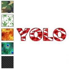 Zebra Style Yolo Decal Sticker Choose Pattern + Size #2925