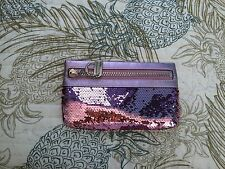 Coach Poppy Pink Sequin Clutch