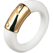NEW DOLCE & GABBANA D&G DJ0745 WHITE/GOLD FASHIONABLE STYLISH RING SIZE 7.25 !!