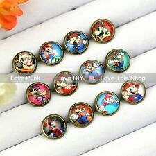 12pairs10mm Fashion Earrings Stud Earrings Glass cabochon Earrings  Classic Game