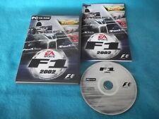 F1 2002 FORMULA 1 PC-CD V.G.C. FAST POST COMPLETE ( formula 1 racing game )