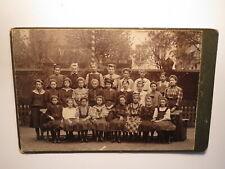 Frau & Gruppe Mädchen - Schule ? / KAB C. Ernst Nachfolger A. Siewczynski Danzig