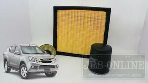 Isuzu MUX Mu-x 4JJ1 Turbo CRD 3.0L 12/13 on AIR OIL FUEL FILTER SERVICE KIT
