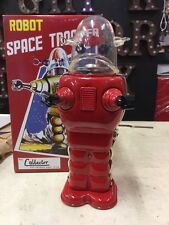 TIN TOY SPACE TROOPER LOST IN SPACE RED ROBOT NOT VINTAGE SPACE ROBOT BOX
