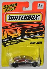 Matchbox SuperFast 1994 Fast Lane #12 New Model Audi Avus silver MOC Tyco toys