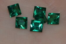 A Single 3mm Princess Cut Genuine Enhanced Green Emerald!!!