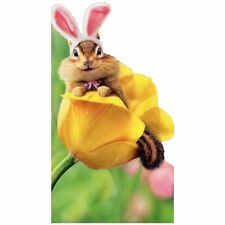 Chipmunk Bunny In Tulip Avanti Easter Card - Greeting Card by Avanti Press