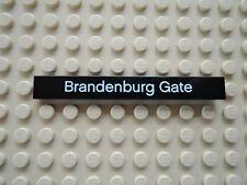 Lego 1 x Fliese 4162pb066 schwarz 1x8 bedr. Brandenburg Gate  Set 21011