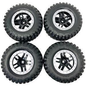 4 x Traxxas Ford Raptor Tires & Wheels Black Satin Chrome Beadlock BFGoodrich