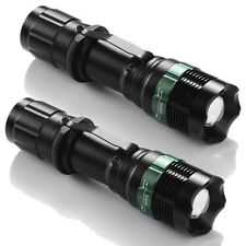 2 X Ultrafire Flashlight 18650 Torch 10000LM Zoomable T6 LED Super Bright Lamp