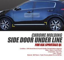 Side Door Under Line Guard Chrome Molding Garnish Trim for KIA 2017-18 Sportage