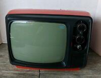 Hitachi P-63 Vintage Television TV Transistor Receiver Untested No Power Cable