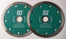 2 X 110MM CERAMIC CUTTING DIAMOND SAW BLADES HIGH GRADE