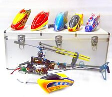 Align TREX 450 PRO RC Helicopter with 6 Head Covers, Receiver and Aluminum Case