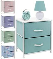 Bedside Night Table + 2 Drawers - Small Kids Dresser for Bedroom - Sleek & Style