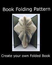 Cross #6,  Book Folding PATTERN to create your own folded book art