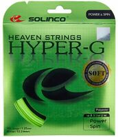 SOLINCO HYPER-G SOFT TENNIS STRING - 1.25MM 16L G - ONE 12M SET - GREEN RRP £18
