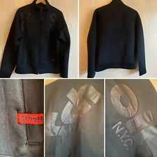 🌈SCHOTT NYC Size M Black Thermal Scuba Bomber Zip Up Jacket Mens