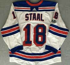 Marc Staal New York Rangers 2017-18 Game-Worn White Set 1 Jersey LOA