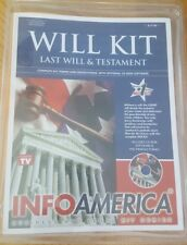 Last Will And Testament Kit Comes With Optional CD-ROM Software