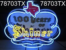 SHINER BEER 100 Year Anniversary Neon Sign / Bar Light - RARE Texas lone star