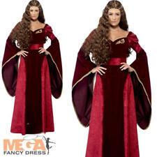 Ladies Smiffys Medieval Queen Fancy Dress Costume Deluxe Game of Thrones M 12-14