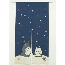 """Totoro Ghibli Japanese Noren Doorway Curtain Winter snow man 34"""" x 59"""" Japan New"""