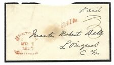 Stampless Mourning Cover, Paid 3 from Montreal to (CW)??