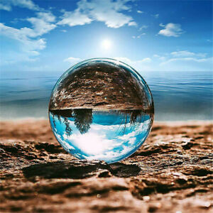 60mm Clear Crystal Ball Photography Glass Lens Sphere Ball Photo Decorate UK