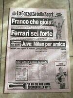 LA GAZZETTA DELLO SPORT N.85 DEL 10 APRILE 1995 - FRANCO FERRARI JUVE MILA (GS9)