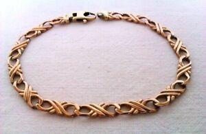 Beautiful Ornate 9ct Gold Fancy Link Bracelet Circa 2006   9.38 Grams