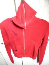Nos L.A.M.B. Gwen Stefani Red Hooded Sweater Patch Pocket Hoodie Top Ribbon Pin