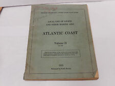 1955 United States Coast Guard Local List Of Lights / Marine Aids Atlantic Ocean