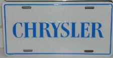 CHRYSLER LICENSE PLATE ALUMINUM  MADE IN USA NEW YORKER FURY 300 MOPAR SEBRING
