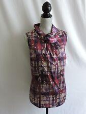 Coldwater Creek Sleeveless Top Size 1X 18 Purple Gray Shawl Style Collar Womens
