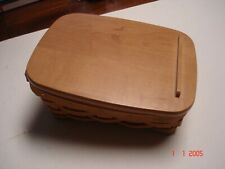 LONGABERGER NOTE PAL BASKET, PROTECTER AND LID 2003