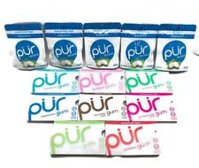 PUR 8 Pk Gum Assortment With 5 Packs Of Mints Combo, Swiss Made! Free Shipping