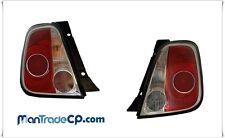 KIT COPPIA FANALE FARO POSTERIORE DX/SX BLACKLINE FIAT 500 2007-> LLI431 LLI432