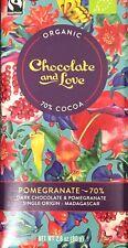 Biologique Grenade 70% Chocolat Marron Foncé 80g (Chocolate And Love) Madagascar