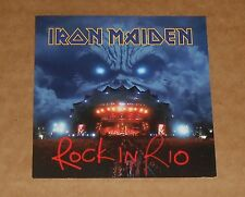 Iron Maiden Card Rock in Rio Original 2-Sided Promo 3.5x3.5