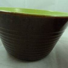 Vintage Brown Lime Green Watt Ovenware Mixing Bowl Set of Two USA 8 & 9
