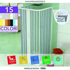 Box Doccia 3 Tre Lati Apertura Centrale A Soffietto Cabina PVC Misura Riducibile