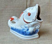 Vintage porcelain figurine Pencil Fish USSR Korosten Soviet 1 grade