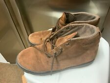 Mens Brown Suede Simple  High Hi Tops Shoes UK 9 Eu 44