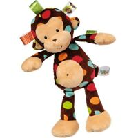 "Taggies Dazzle Dots Monkey 12"" Soft Plush Stuffed Animal Baby Toy by Mary Meyer"