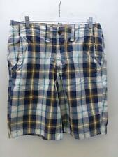 HOLLISTER by Abercrombie blue brown pld flat front golf Shorts bermuda mens 30